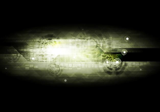 Fundo de tecnologia verde escuro. desenho vetorial