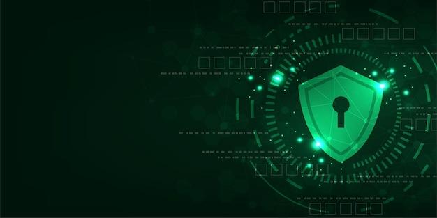 Fundo de tecnologia vetorial no conceito de sistemas de segurança.