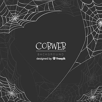 Fundo de teia de aranha de halloween criativo