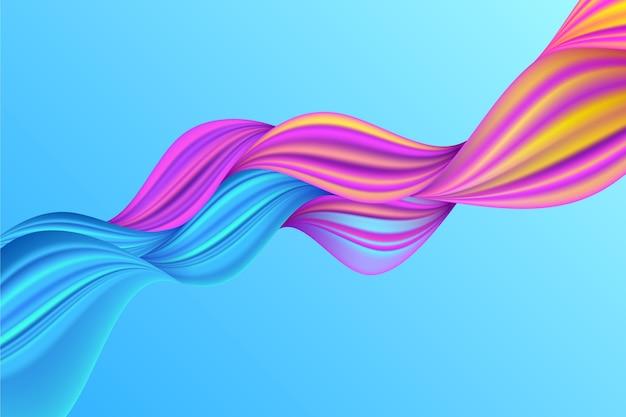 Fundo de tela colorida gradiente trançado