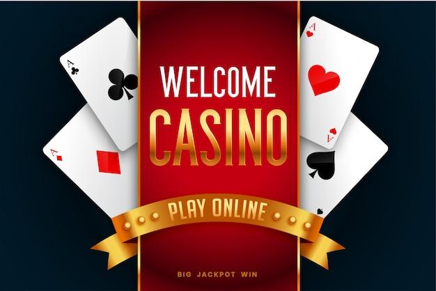 Fundo de tela de boas-vindas do jogo de cassino online