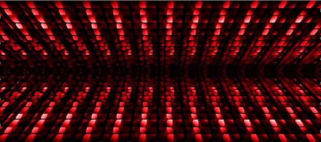 Fundo de tela de cinema de led vermelho azul
