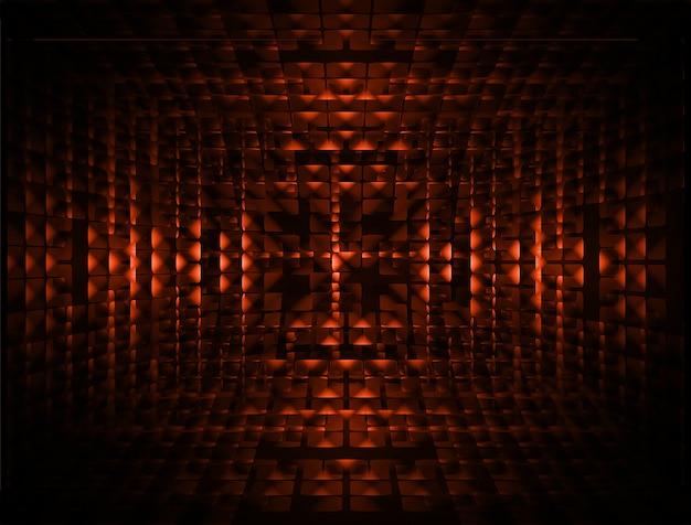 Fundo de tela de cinema led laranja