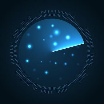 Fundo de tela de radar. exibição do sonar
