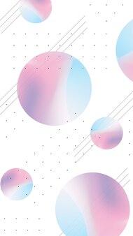 Fundo de telefone gradiente com círculos