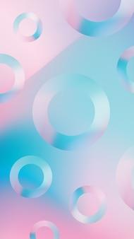 Fundo de telefone gradiente com formas circulares