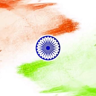 Fundo de tema da bandeira indiana estilo aquarela