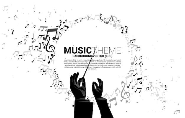 Fundo de tema musical Vetor Premium
