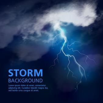 Fundo de tempestade à noite