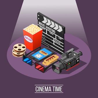 Fundo de tempo do cinema