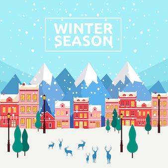 Fundo de temporada de inverno