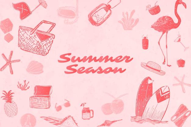 Fundo de temporada de verão