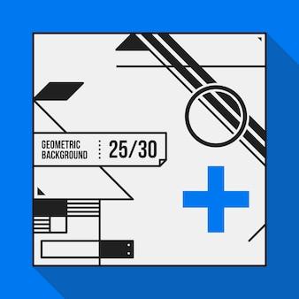 Fundo de texto quadrado com formas geométricas abstratas. útil para banners, capas e cartazes.