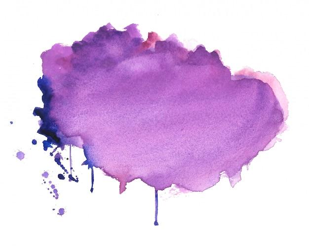 Fundo de textura abstrata mancha aquarela roxa