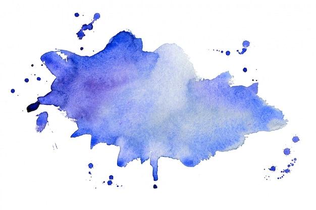 Fundo de textura abstrato azul aquarela respingo