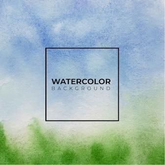 Fundo de textura aquarela abstrata azul e verde,
