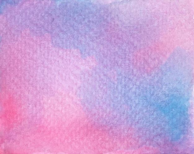 Fundo de textura aquarela abstrata de cor roxa e rosa.