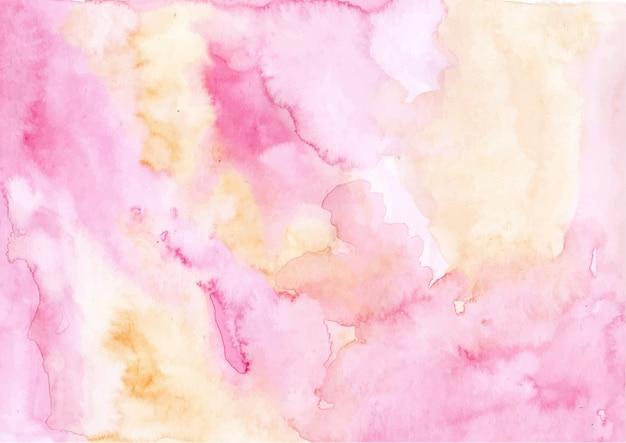Fundo de textura aquarela abstrata rosa amarela