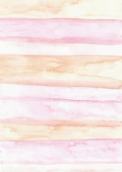 Fundo de textura aquarela abstrata rosa listras