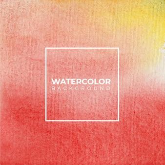 Fundo de textura aquarela amarela e vermelha macia, pintura à mão.
