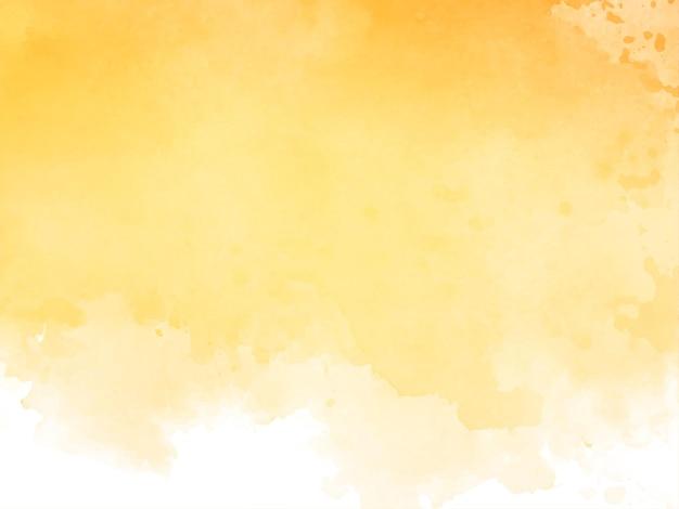Fundo de textura aquarela amarela elegante