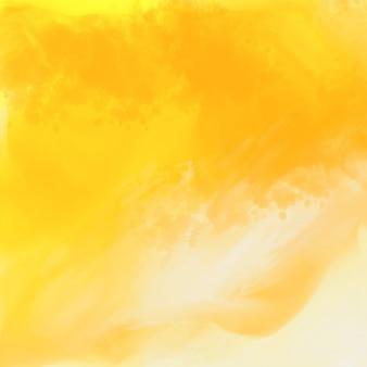Fundo de textura aquarela amarelo brilhante