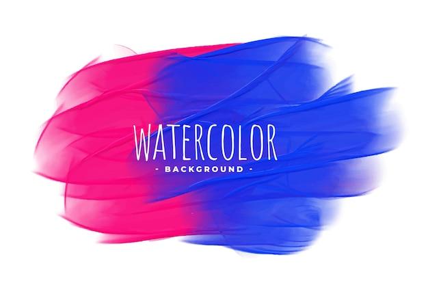 Fundo de textura aquarela azul e rosa