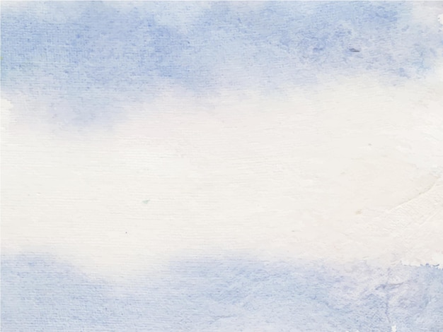 Fundo de textura aquarela azul, pintura à mão.