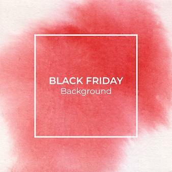 Fundo de textura aquarela blackfriday vermelho