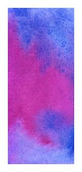 Fundo de textura aquarela de banner de rollup azul e magenta