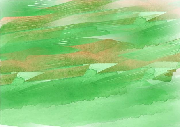Fundo de textura aquarela fluxo de tinta verde abstrato