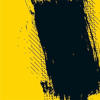 Fundo de textura bagunçado do grunge abstrato amarelo e preto