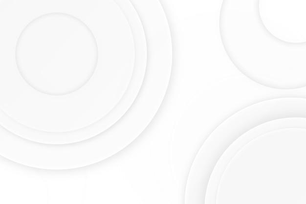 Fundo de textura circular branco design