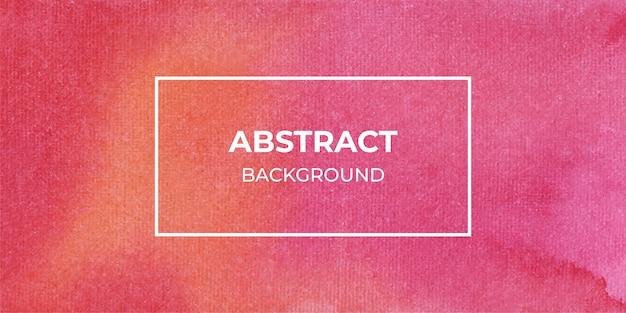 Fundo de textura de banner web aquarela abstrata vermelha