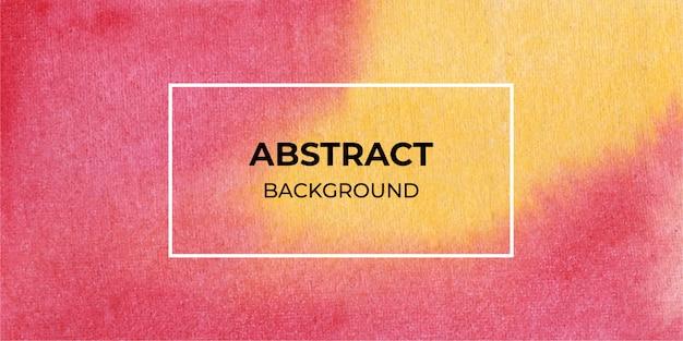 Fundo de textura de banner web aquarela vermelha e amarela