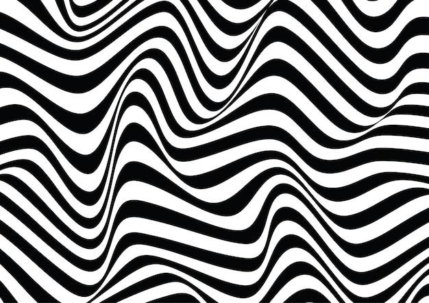 Fundo de textura de ilusão de ótica de linha ondulada
