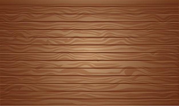 Fundo de textura de madeira marrom com vista superior de ilustração vetorial 3d