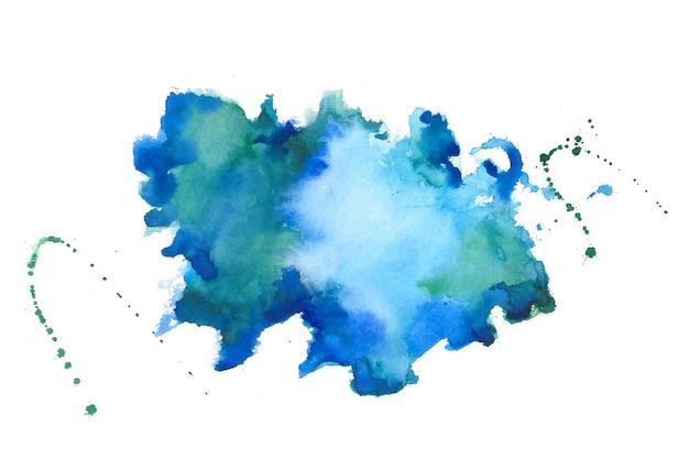 Fundo de textura de mancha azul de aquarela splater