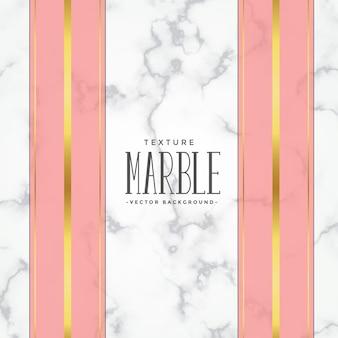 Fundo de textura de mármore com listras rosa e ouro