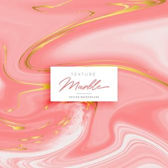 Fundo de textura de mármore rosa premium com tons dourados