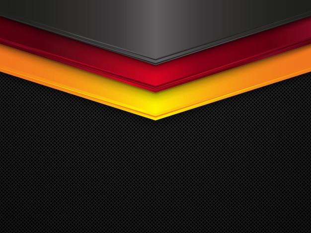 Fundo de textura de metal. bandeira da alemanha abstrata
