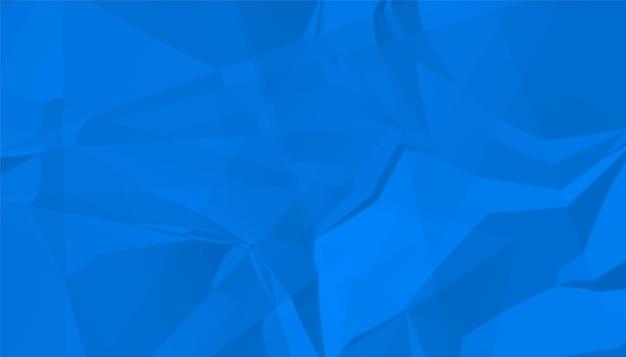 Fundo de textura de papel amassado azul abstrato