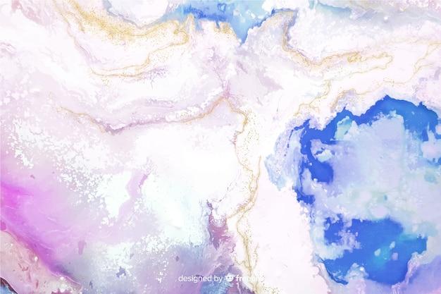 Fundo de textura de tinta de mármore colorido