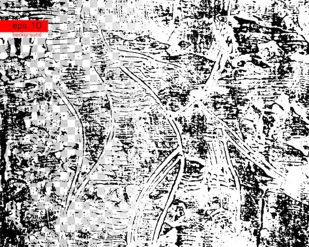 Fundo de textura de vetor urbano grunge preto e branco criar resumo pontilhado riscado