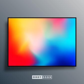Fundo de textura gradiente colorido para papel de parede de tela, folheto, cartaz, capa de brochura, tipografia ou outros produtos de impressão. ilustração