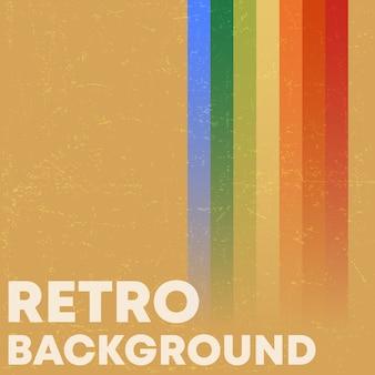 Fundo de textura grunge retrô com listras coloridas vintage.
