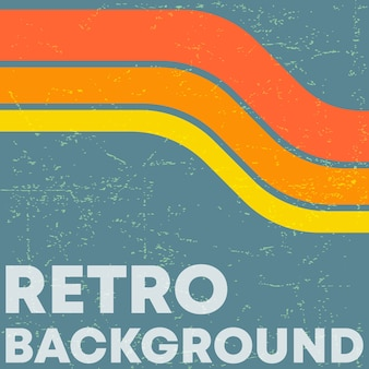 Fundo de textura grunge retrô com listras de cor vintage.
