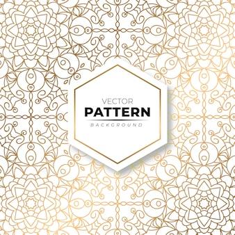 Fundo de textura moderna padrão floral ouro ornamentado