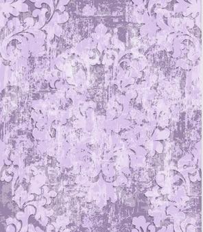 Fundo de textura padrão barroco rosa vintage
