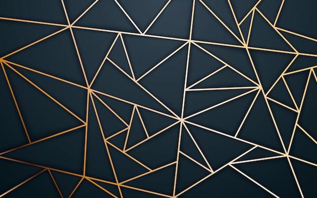 Fundo de textura poligonal abstrata cor dourada